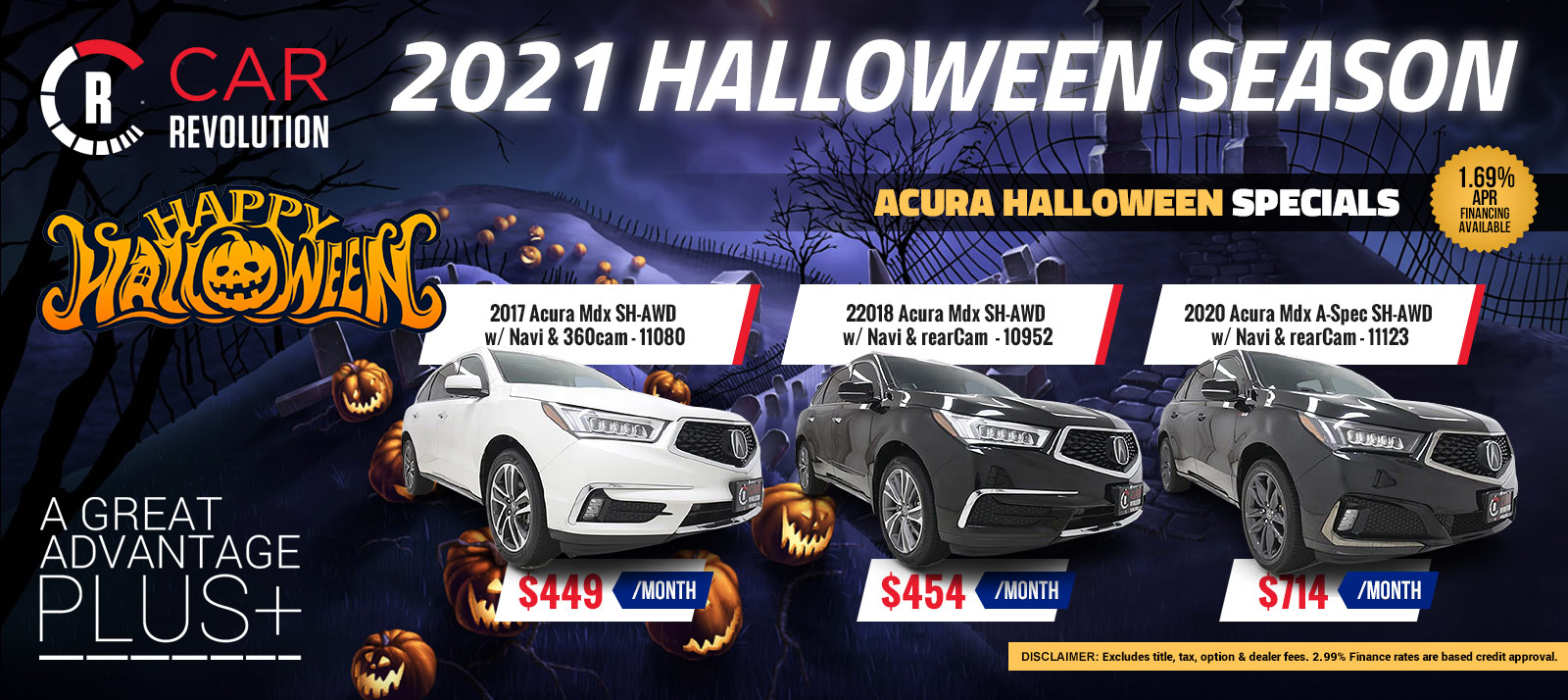 Acura Halloween Season Specials!