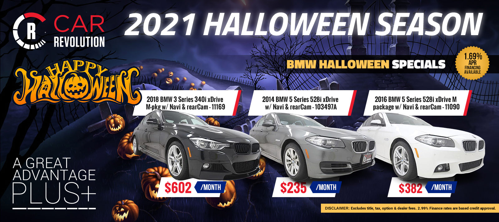 BMW Halloween Season Specials!