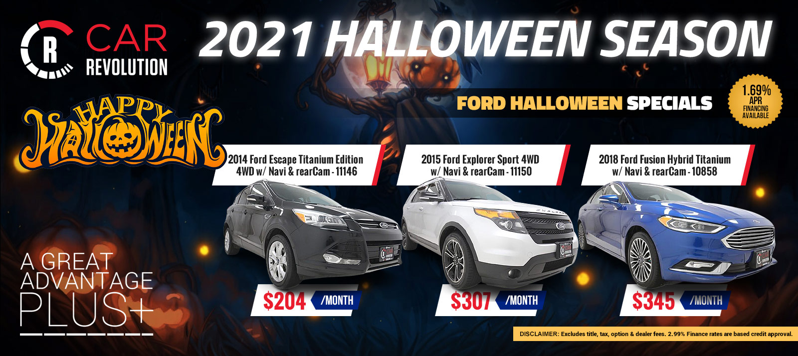 FORD Halloween Season Specials!