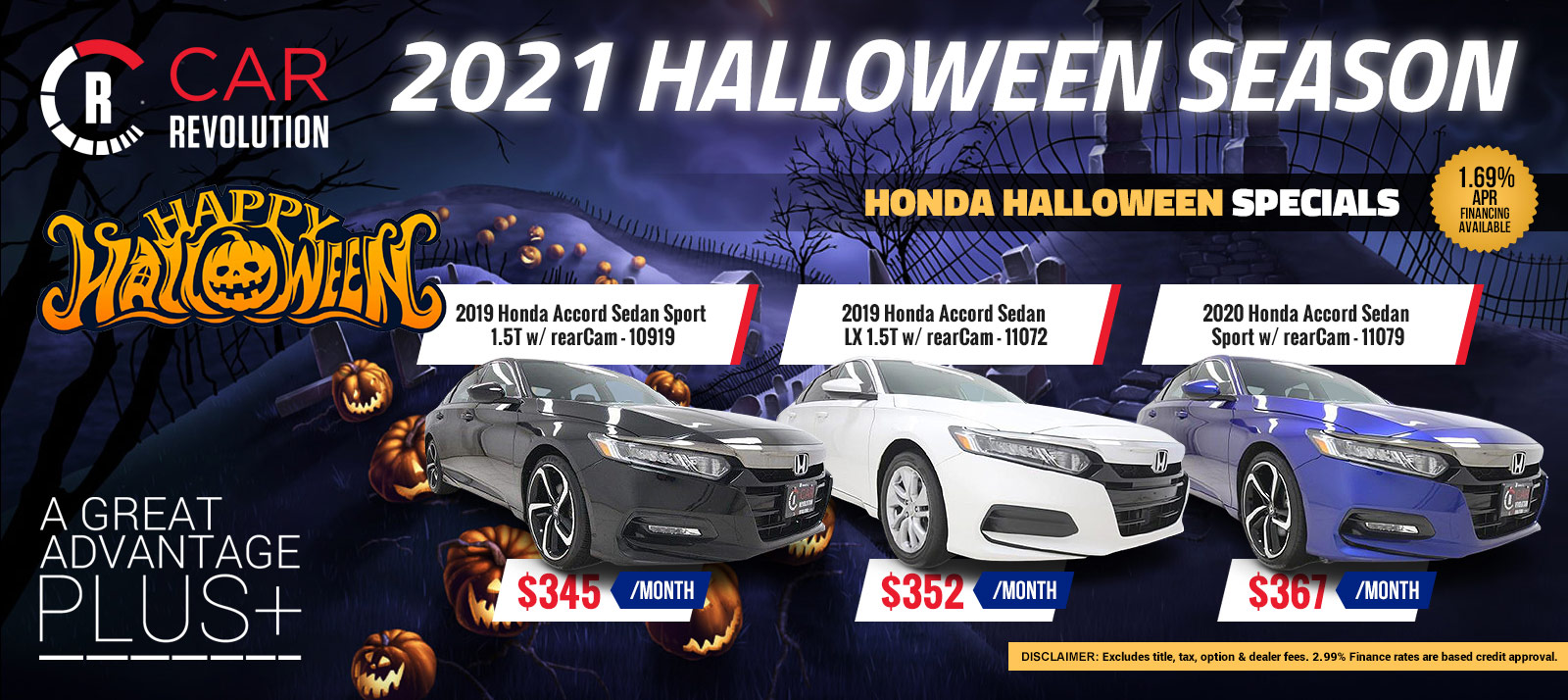 HONDA Halloween Season Specials!