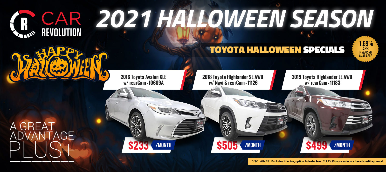 TOYOTA Halloween Season Specials!