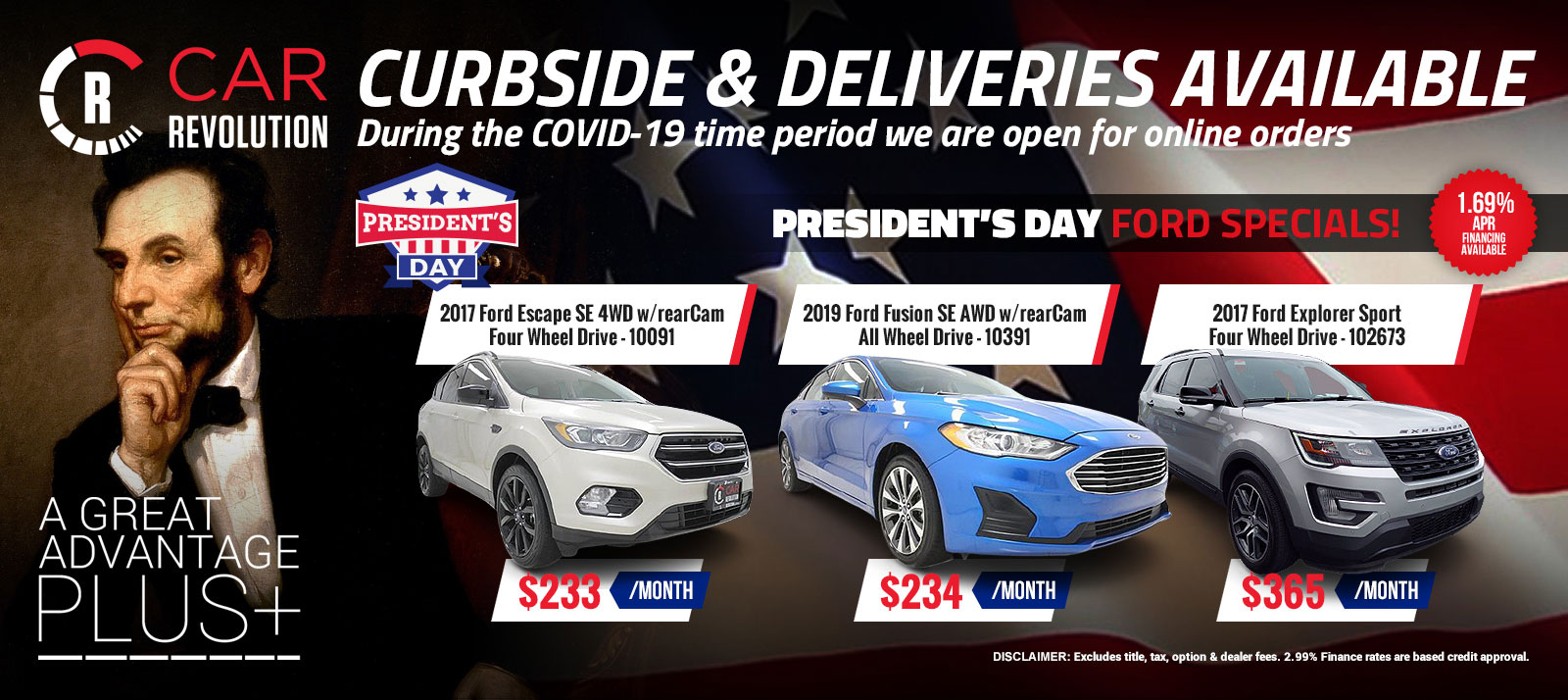 FORD PRESIDENT DAY Specials!