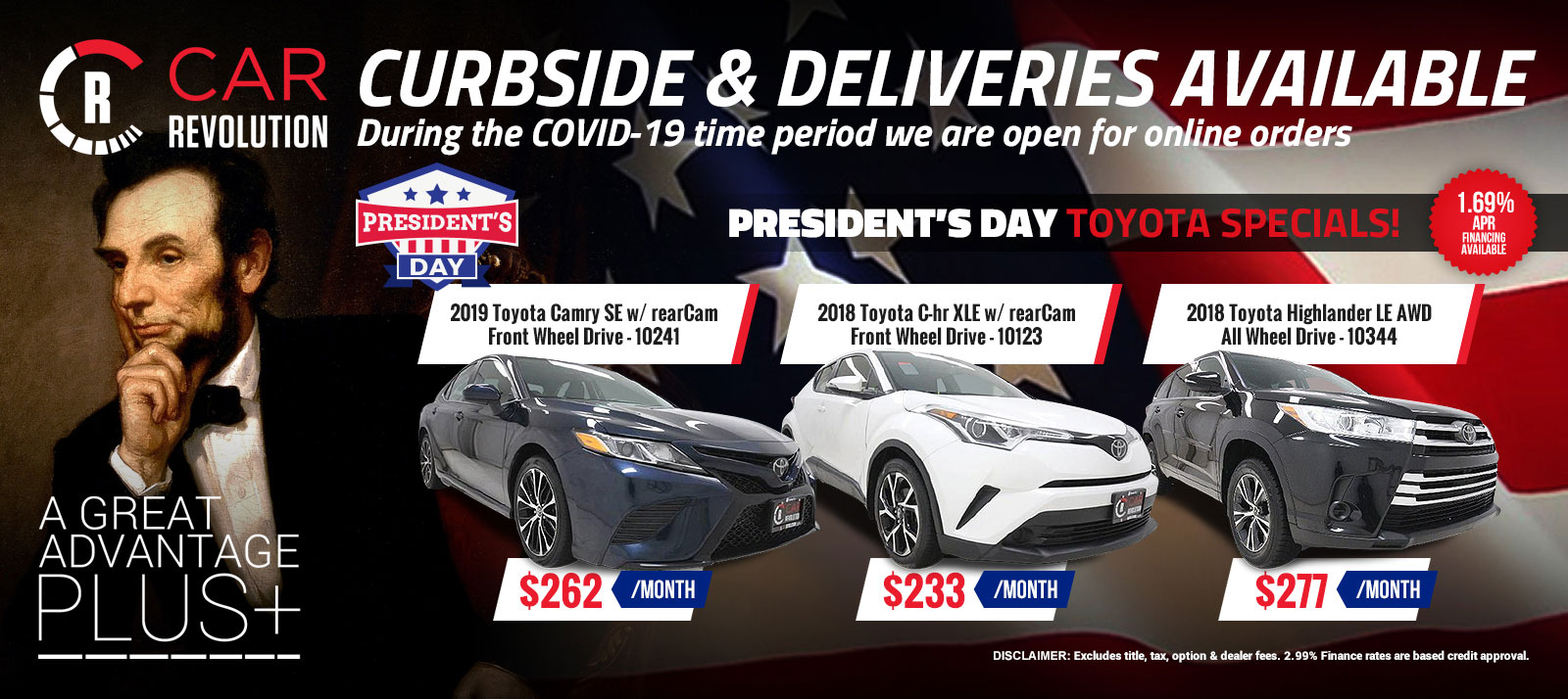 TOYOTA PRESIDENT DAY Specials!
